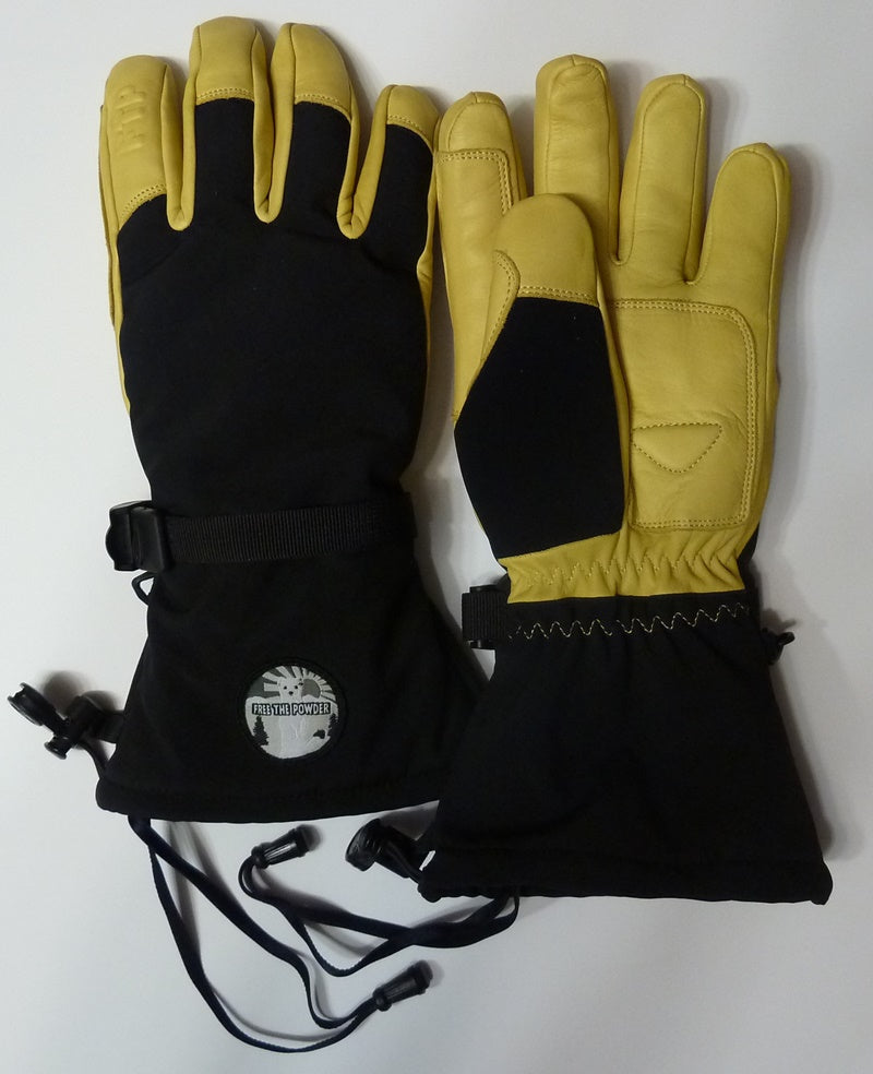 glove leashes on Free the Powder gloves