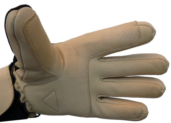 leather ski glove reinforcement
