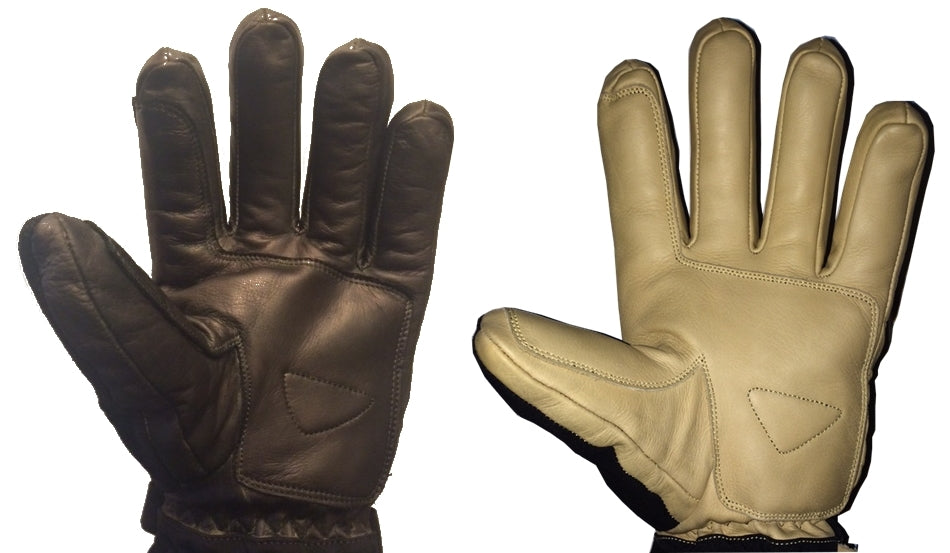 leather colors ski glove