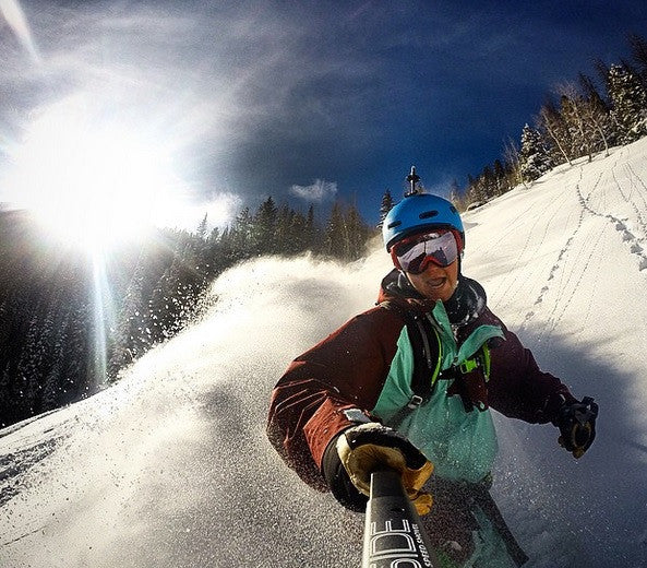 GoPro skiing powder