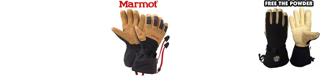 best ski gloves comparison: Marmot versus Free the Powder