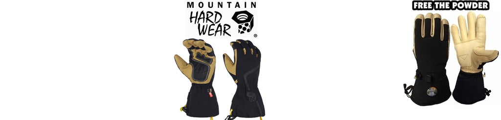 best ski gloves comparison: Mountain Hardware and Free the Powder