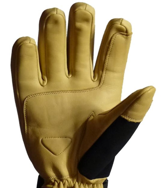 leather ski glove