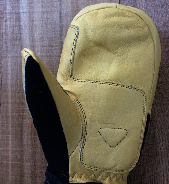 RX Mitten leather palm with reinforcement patch