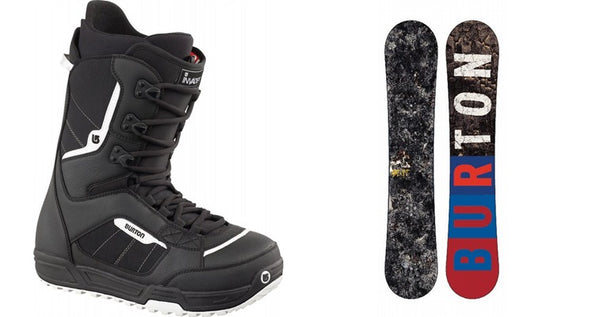 modern snowboard boots and boards