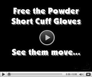 free the powder short cuff gloves video