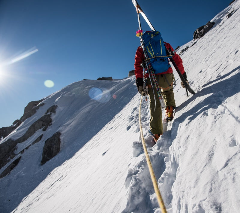 ski mountaineering with ropes