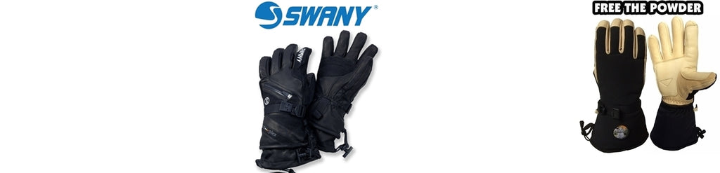 best ski gloves comparison: Swany and Free the Powder