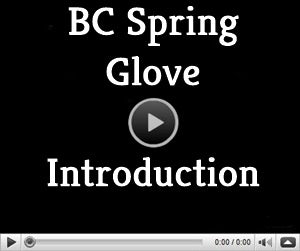 video page for BC Spring ski glove