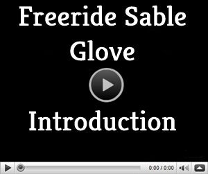 video page for Freeride Sable ski glove