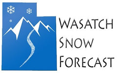 wasatch utah snow forecast image