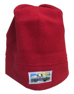 Free the Powder Logo Fleece Beanie in Red