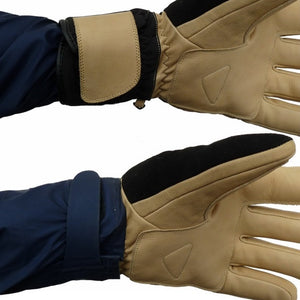 Factory second short cuff ski gloves over or under the cuff