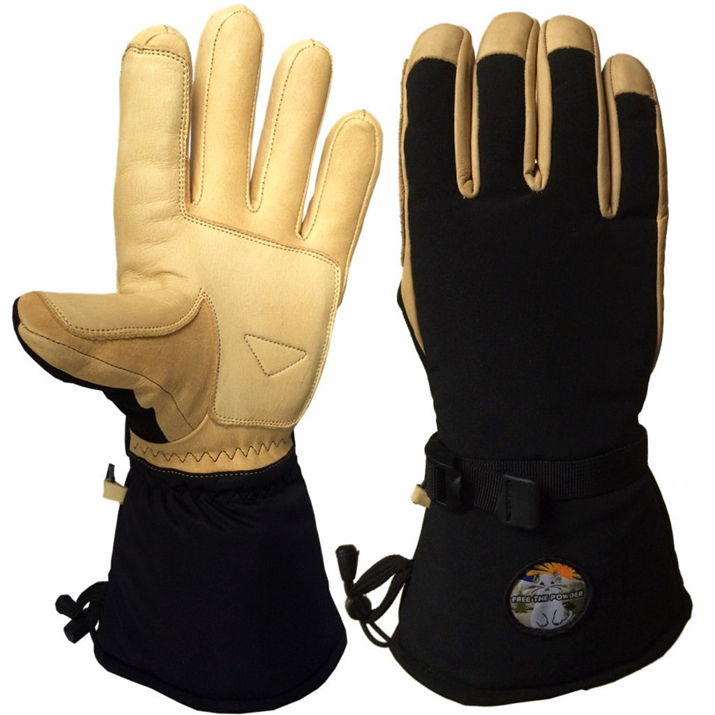 Factory Seconds Ski Gloves Long Cuff by Free the Powder