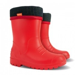 Pair of Kids Dino Welly Boots in Red. Comfortable, lightweight and durable. Available to buy from Bright Light Boots