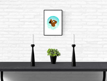 "Load image into Gallery viewer, ""Blue Moonflower"" • Wall Art Print"