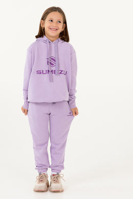 Girl Hoodie-Jog Pants Set Embroidered