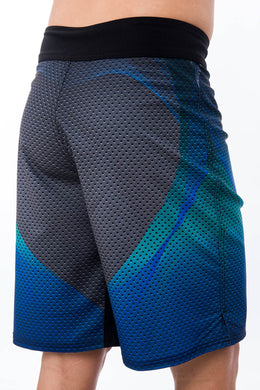 Sumezu - mens fitness shorts hacker side