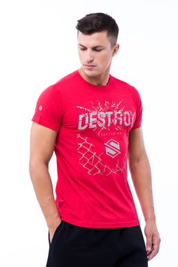Sumezu - mens tshirt destroy red front