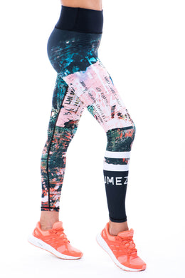 Sumezu - womens leggings spray left