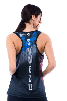 Sumezu -womens tank digital mochanika front
