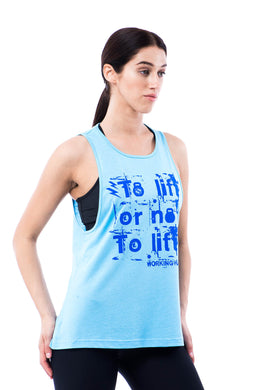 Sumezu - womens tank liftsky blue front