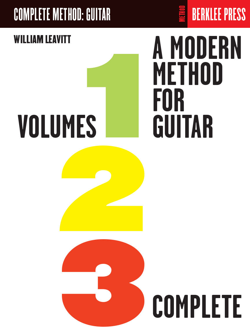 Berklee Modern Method for Guitar Complete Volume 1, 2 & 3