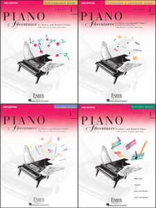 Faber Piano Adventures Level 1 Pack of 4 Books (Lesson/ Theory/ Performance/ Technique)
