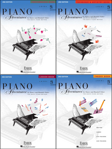 Faber Piano Adventures Level 2A Pack of 4 Books (Lesson/ Theory/ Performance/ Technique)
