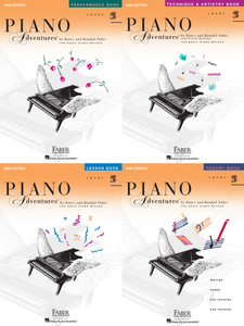 Faber Piano Adventures Level 2B Pack of 4 Books (Lesson/ Theory/ Performance/ Technique)