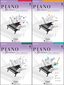 Faber Piano Adventures Level 3B Pack of 4 Books (Lesson/ Theory/ Performance/ Technique)