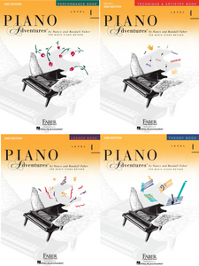 Faber Piano Adventures Level 4 Pack of 4 Books (Lesson/ Theory/ Performance/ Technique)