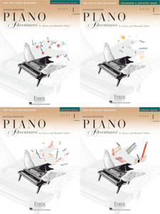 Faber Accelerated Piano Adventures Level 1 Pack of 4 Books (Lesson/ Theory/ Performance/ Technique)