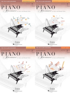 Faber Accelerated Piano Adventures Level 2 Pack of 4 Books (Lesson/ Theory/ Performance/ Technique)