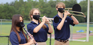 Brass and Woodwind Instrument Face Mask