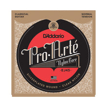 Load image into Gallery viewer, D'addario Classical Guitar Strings EJ45 Pro-Arté Nylon, Normal Tension