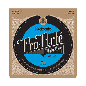 D'addario Classical Guitar Strings EJ46 Pro-Arte Nylon, Hard Tension