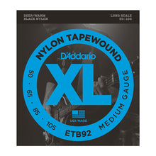 Load image into Gallery viewer, D'addario Bass Guitar ETB92 Tapewound Bass, Medium, 50-105, Long Scale