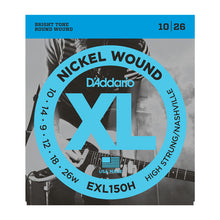 Load image into Gallery viewer, D'Addario EXL150H Nickel Wound Electric Guitar Strings, High-Strung/Nashville Tuning, 10-26