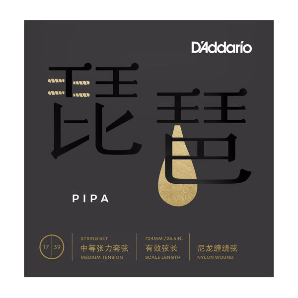 Chinese PIPA Strings - Nylon Wound - 17 - 39
