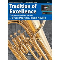 Tradition of Excellence Book 2 for Baritone / Euphonium (Treble Clef)