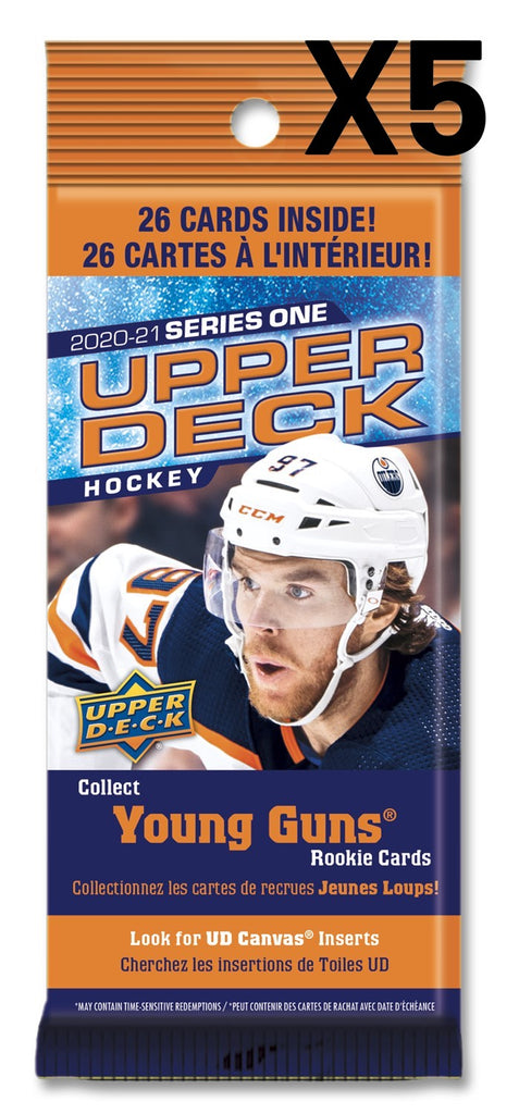2020-21 Booster X5 NHL Upper Deck I Fat Packs