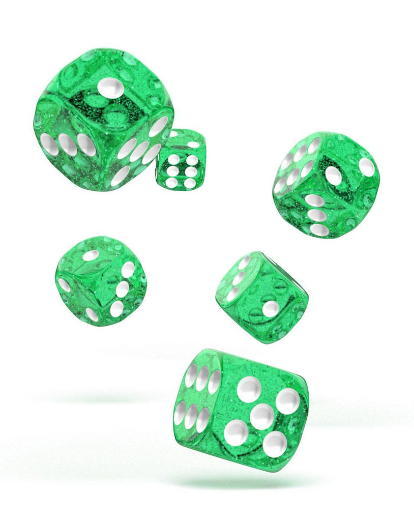 Set de dés Oakie Doakie D6 16mm Speckled Vert (12)