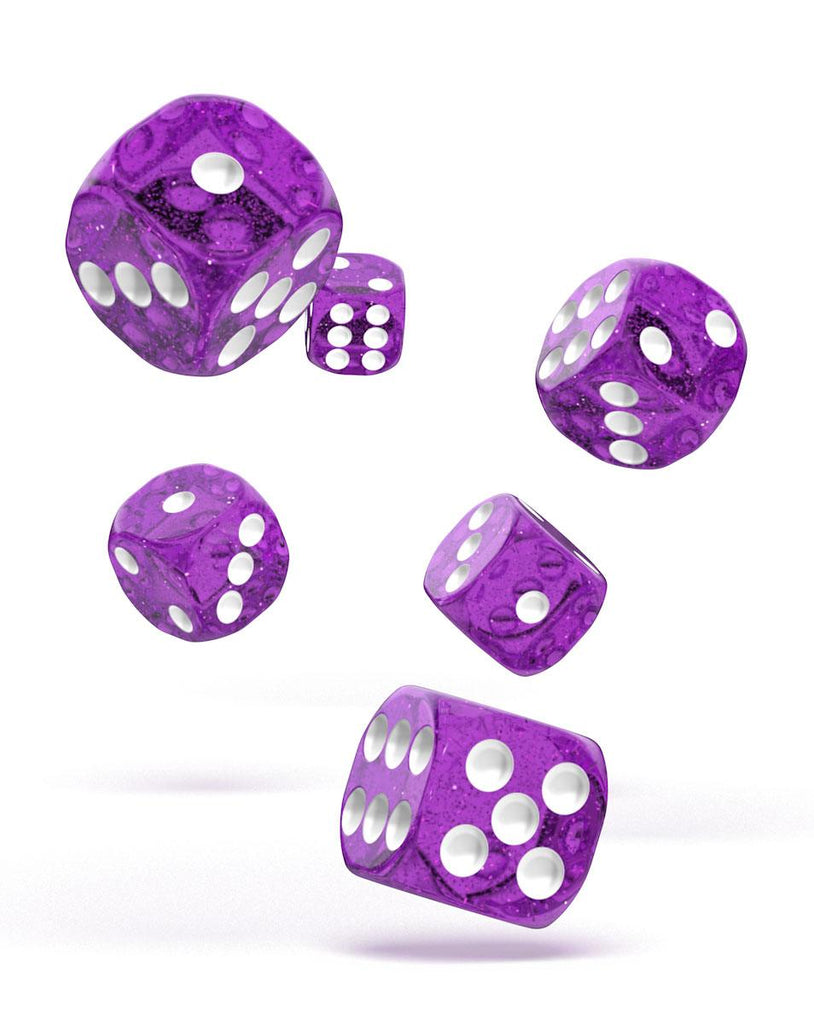 Set de dés Oakie Doakie D6 16mm Speckled Violet (12)