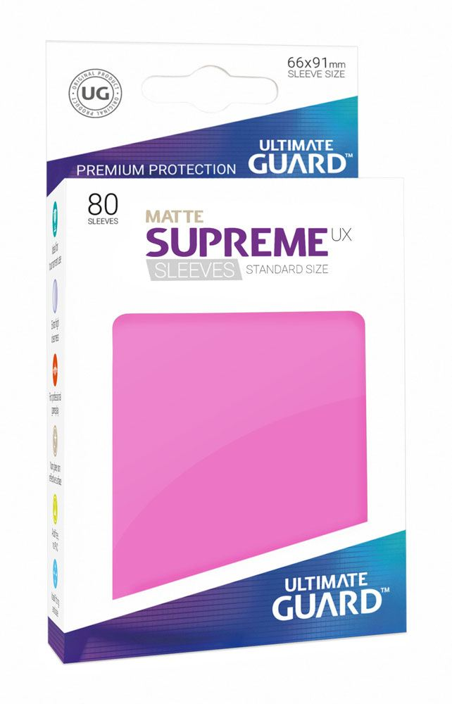 Ultimate Guard 80 pochettes Supreme UX Sleeves taille standard Rose Mat