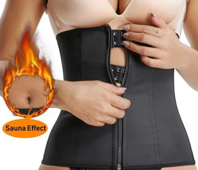 Waist Trainer Belt, Waist Cinchers Zipper, Body Zip corset and Slimming Waistband - Fit 2 Perfect
