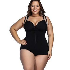 Plus size Body Shaper, Slimming waist trainer, Tummy Control Bodysuit and Postpartum Recover Underwear Corset - Fit 2 Perfect