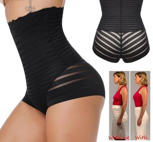 Women High Waist Sexy Briefs Body Shaper Seamless Underwear Butt Lifter Waist Trainer Tummy Control Panties Belly Girdle Panty - Fit 2 Perfect