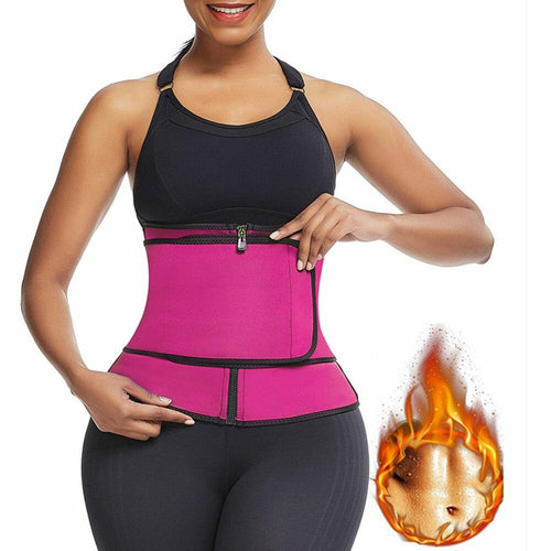 Neoprene Waist Trainer, Body Modelling Strap, Sauna Butt Lifter and Fitness Corset Slimming Belt - Fit 2 Perfect