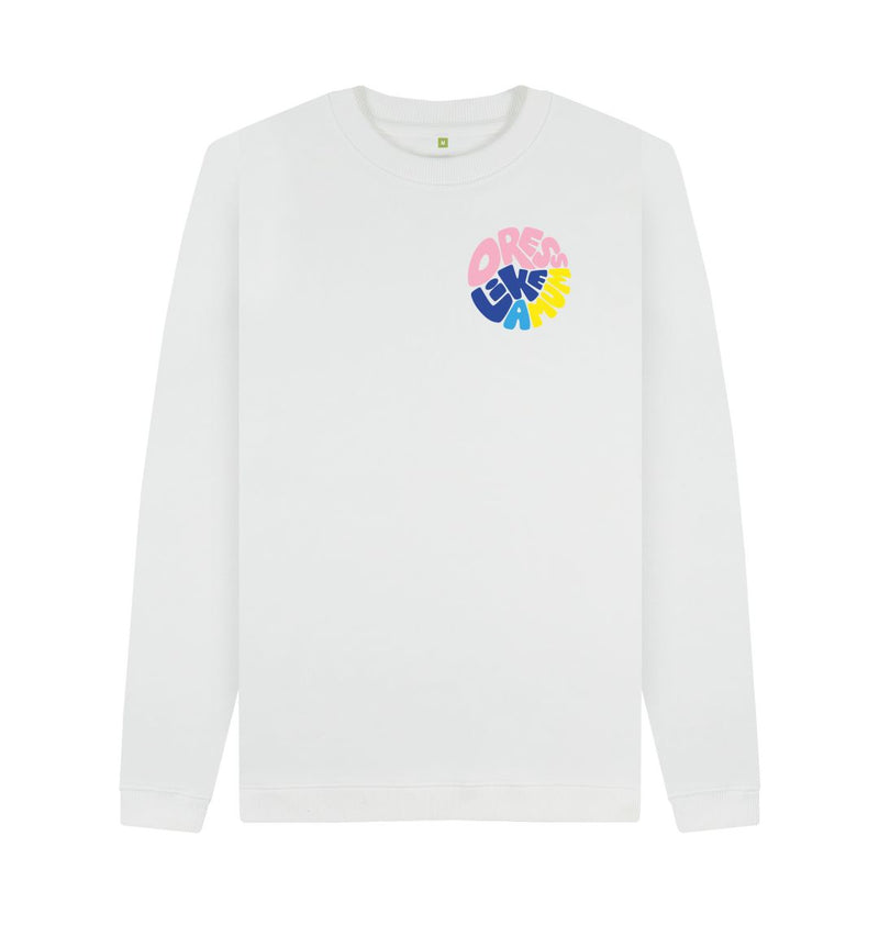 White DLAM Circle Sweatshirt by Ginny Pickles